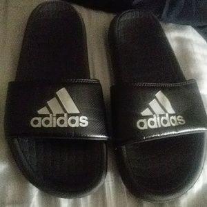Adidas slides size 6 youth boys
